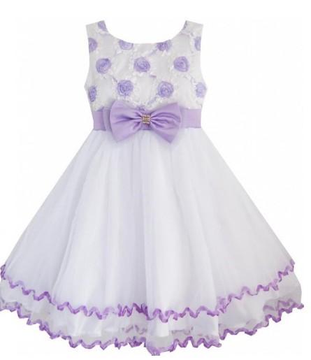 Easter Dress Purple Flowers Tulle