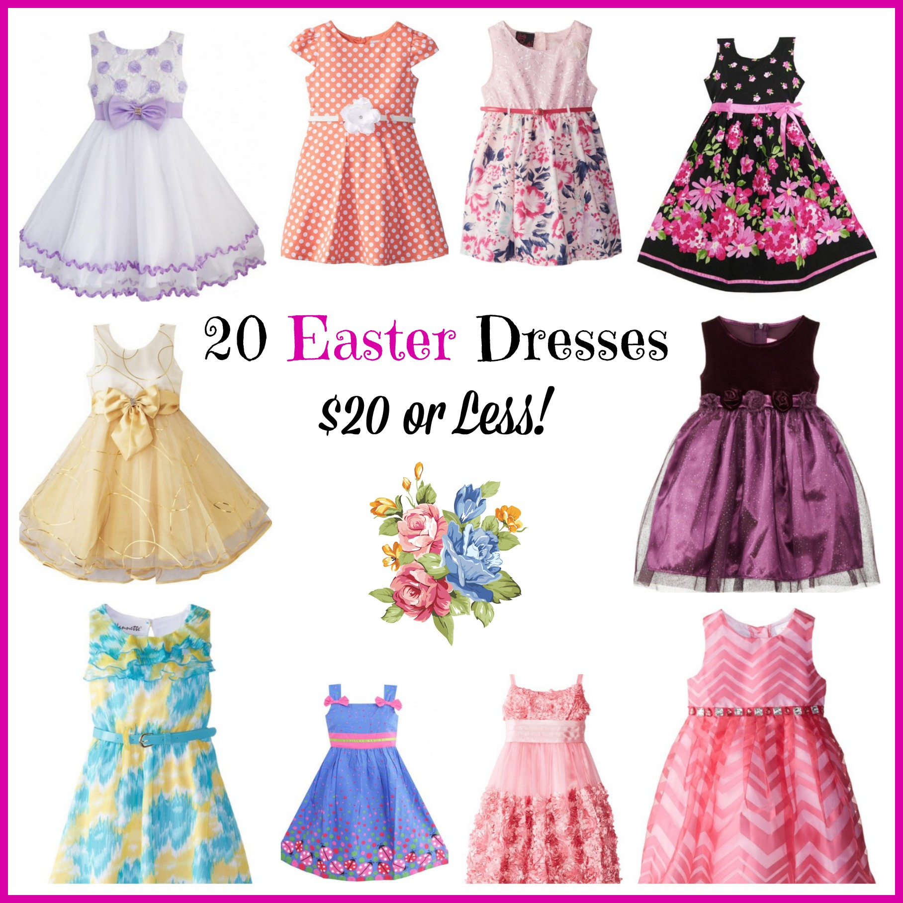 20 Cute Girls Easter Dresses Under $20
