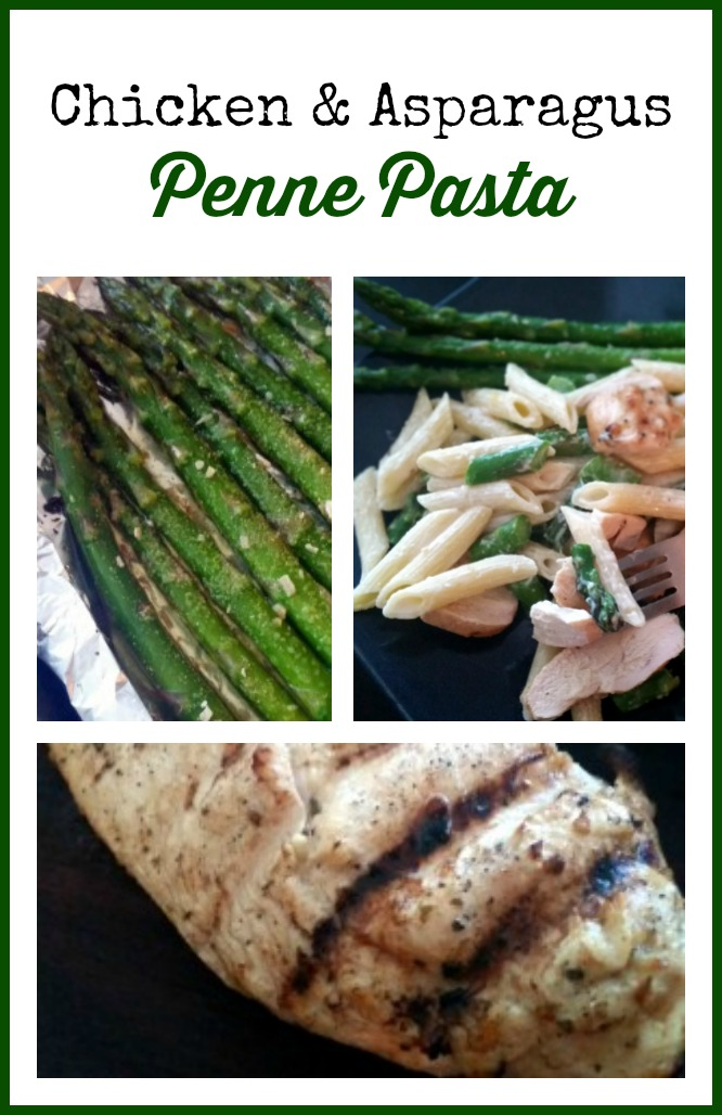 Chicken & Asparagus Penne Pasta Recipe – fire up that grill!