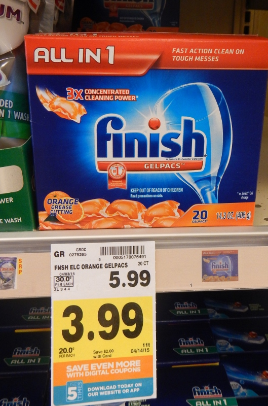 Finish Gelpacs on Sale at QFC