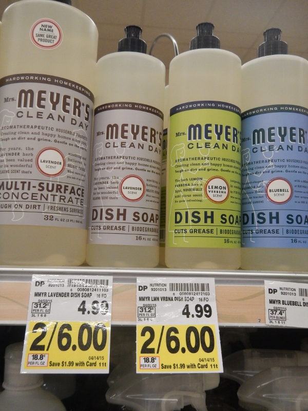 Mrs. Meyer's Dish Soap on sale at QFC