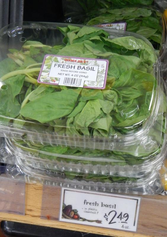 Fresh Basil at Trader Joe's