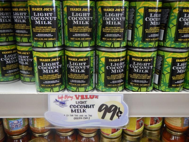 Light Coconut Milk at Trader Joe's
