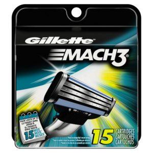 Gillette Mach3 Base Cartridges 15 Count