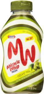 Kraft Miracle Whip Dressing with Olive Oil Bottle, 12 Ounce