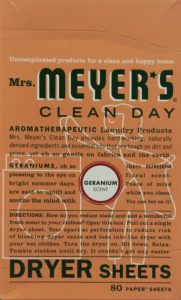 Mrs. Meyer's Clean Day Dryer Sheets, Geranium, 80 Count