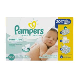 Pampers Sensitive Wipes 13x Multipack, 808 Count