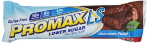 Promax LS Lower Sugar Protein Bar, Chocolate Fudge, 2.36 Ounce, 12-Pack