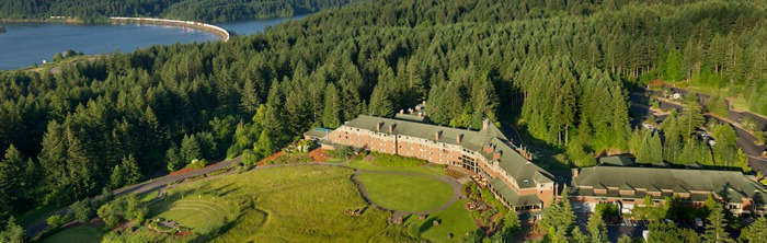 Scenic Vistas at a Columbia Gorge Lodge