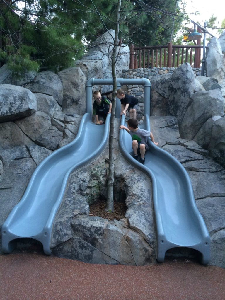 Stretching our legs at the Redwood Creek Challenge Trail