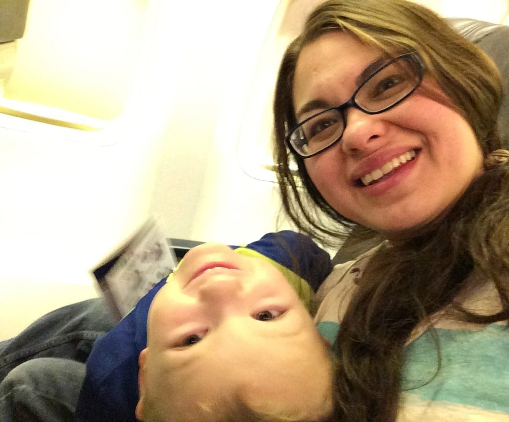 My kid was super chipper boarding the plane at 5:30AM.