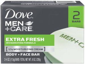 Dove Men+Care Extra Fresh Body and Face Bar 4 oz, 2 Bar