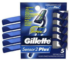 Gillette Sensor2 Plus Men's Disposable Razor ,5 Count