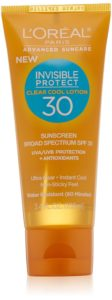 L'Oreal Paris Advanced Suncare Clear Cool Lotion SPF 30, For All Skin Types, 3.4 Fluid Ounce