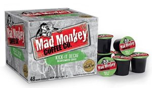 Mad Monkey Coffee Capsules, Kick It Decaf, 48 Count