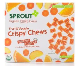 Sprout Crispy Fruit and Veggie Chews, Orange Fruit and Carrot, 3.15 Ounce