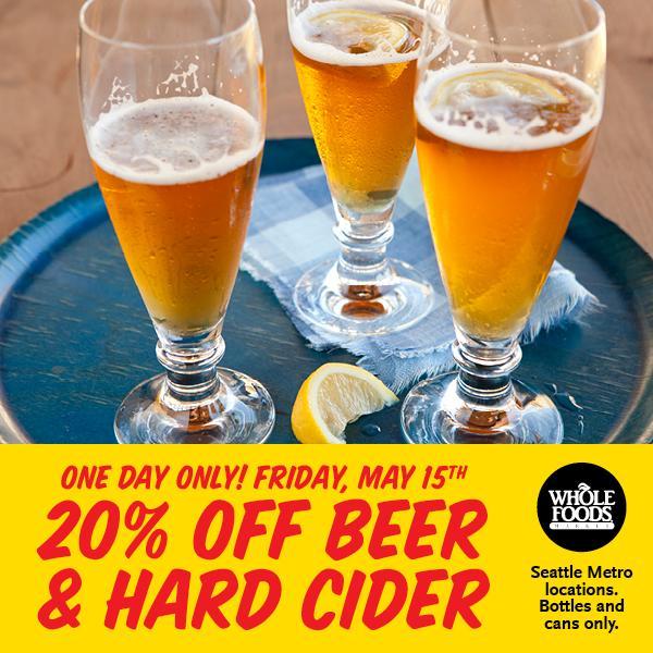 20% off Beer & Hard Cider