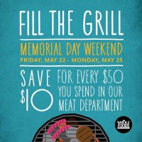 Whole Foods Market: Save $10 on $50 Meat Purchase 5/22 – 5/25