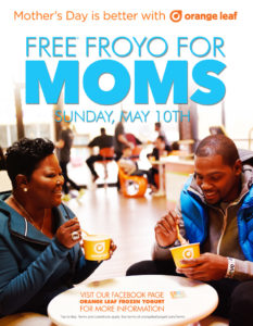 free froyo for moms