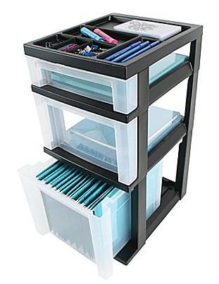 Iris 3-drawer storage unit