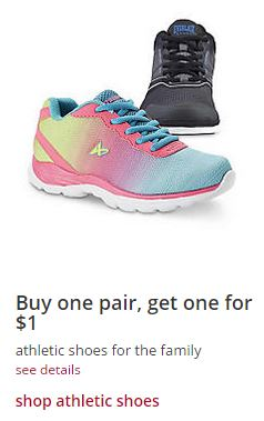 eacb3abadc28 Kmart  Buy 1 Pair of Athletic Shoes