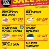 Whole Foods Market (Chambers Bay Store) – Salmon Sale, 50% off Items, Events + More!