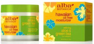 Alba Botanica Hawaiian, Aloe & Green Tea Oil-Free Moisturizer, 3 Ounce