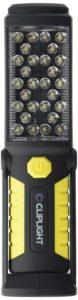 Cliplight 24-458 Pivot 33 Powerful LED Work Light and 5-LED Flashlight