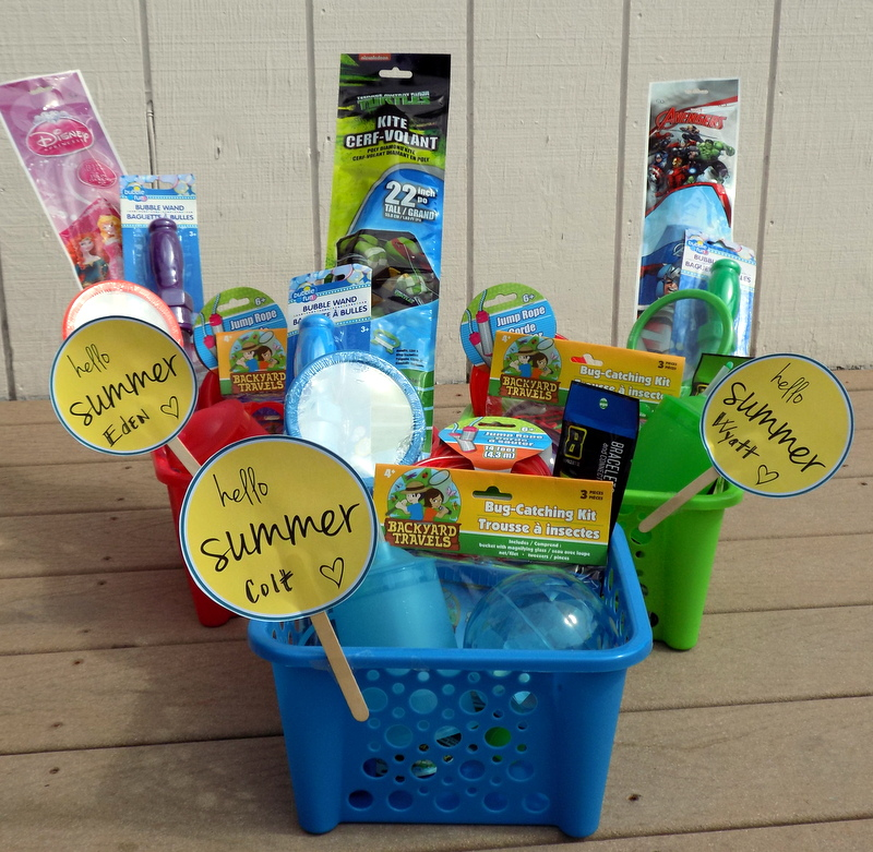 Hello Summer Goody Baskets for Kids!