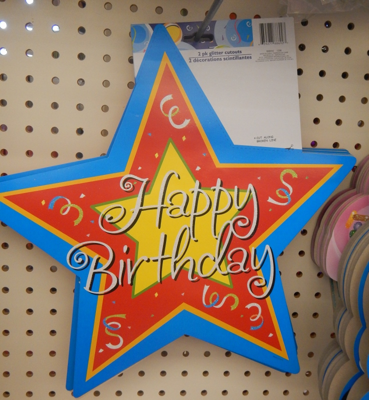 Birthday Party Decor At The Dollar Store