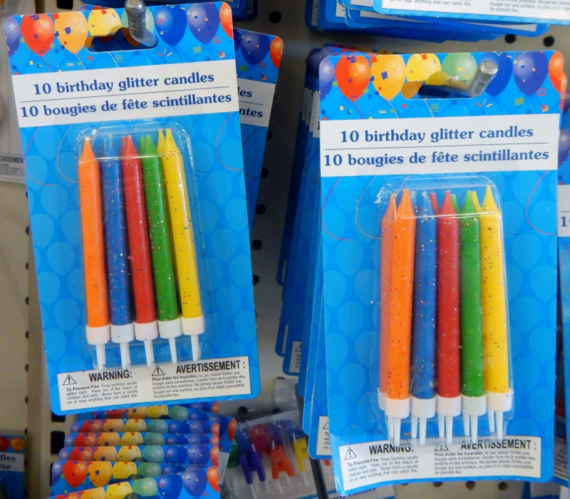 Birthday Candles at the Dollar Store