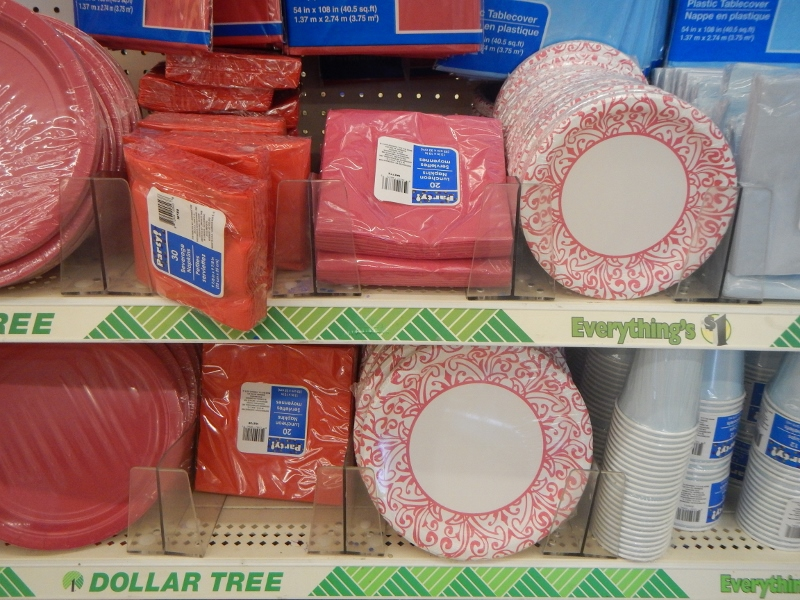 Plates Cups Etc At The Dollar Store