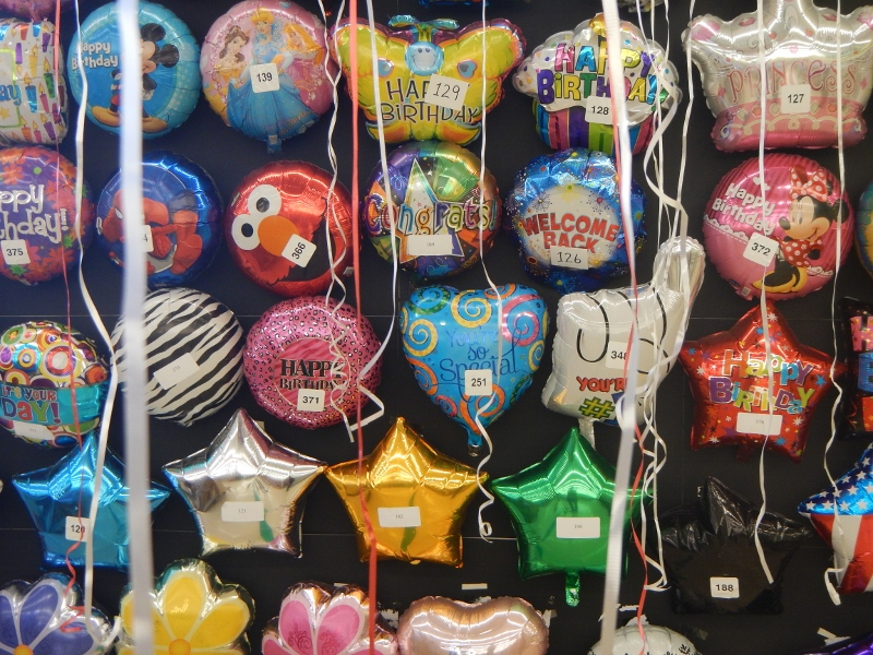Helium Balloons At The Dollar Store
