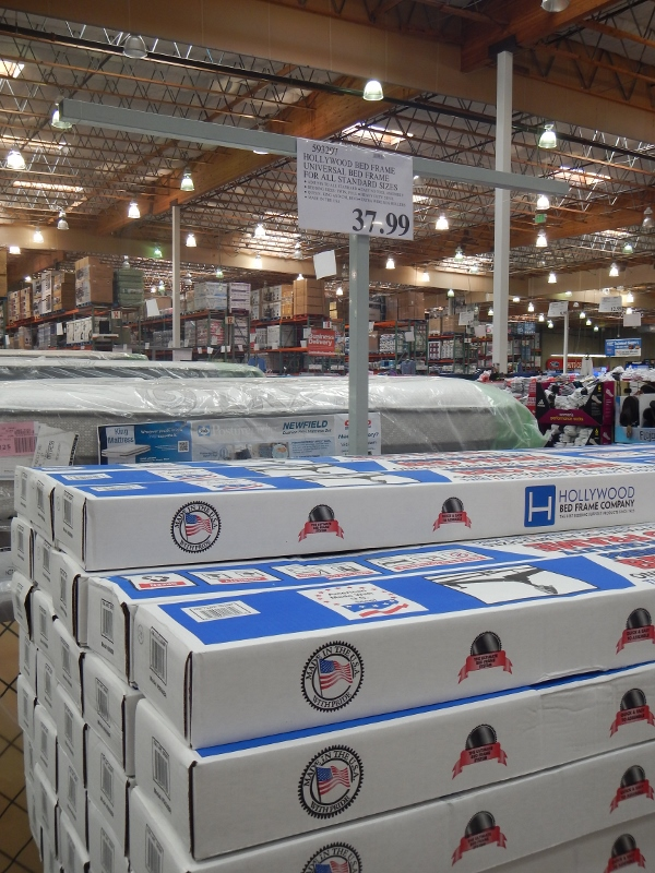 universal bed frame at costco
