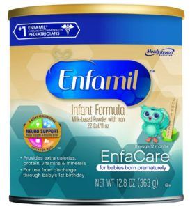 Enfamil EnfaCare Infant Formula Powder for Babies Born Prematurely, 12.8 Ounce (Pack of 6) (Packaging May Vary)