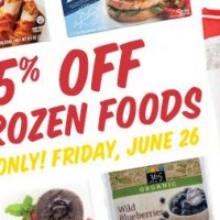 Whole Foods Market: 25% off Frozen Foods (Friday, 6/26)