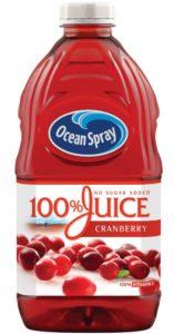 Ocean Spray 100 Juice Cranberry, 60 Ounce Bottles (Pack of 8)