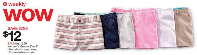 Target women's Merona shorts
