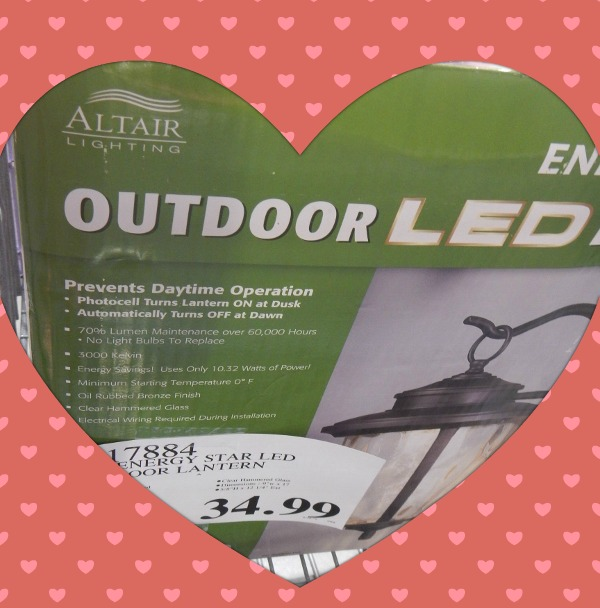 Great deal on Outdoor lights at Costco
