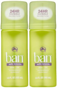 Ban Roll-On Satin Breeze Deodorant, 3.5 Ounce (Pack of 2)