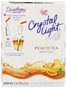 Crystal Light Peach Tea Mix (2.7-Ounce), 30-Count On-the-Go Packages (Pack of 2)