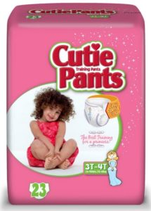 Cuties Training Pants, Girl, 92 Count (Pack of 4)