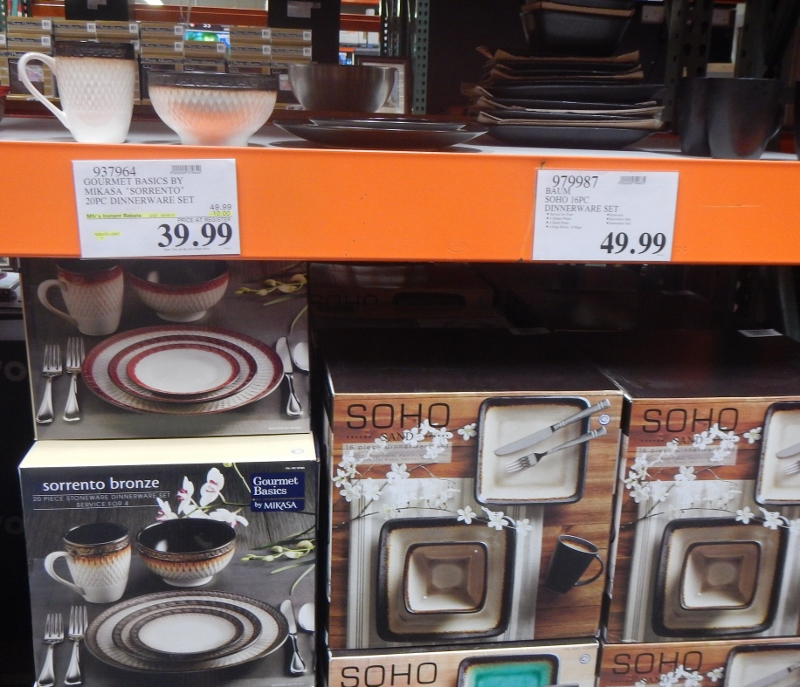 Dishes at Costco