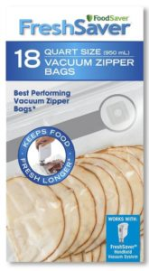 FoodSaver 18 Quart-sized Vacuum Zipper Bags