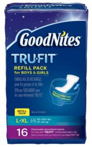 GoodNites Tru-Fit Real Underwear Disposable Absorbent Inserts Refill Pack for Boys and Girls, Large and Extra Large, 16 Count (Pack of 3)