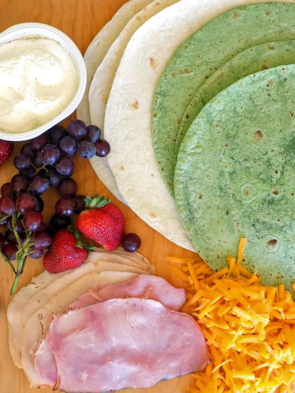 Ham & Cheese Pinwheel Ingredients