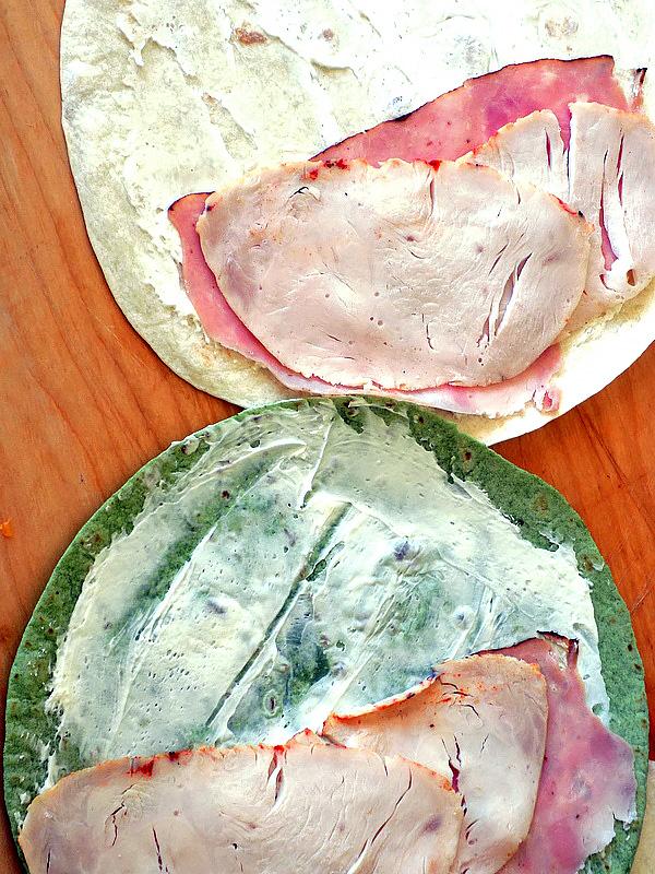 Adding Deli Meat to Ham & Cheese Pinwheels