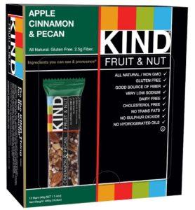 KIND Fruit & Nut, Apple Cinnamon & Pecan, Gluten Free Bars, 1.4 Ounce, 12 Count