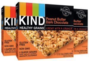 KIND Healthy Grains Granola Bars, Peanut Butter Dark Chocolate, 1.2oz Bars, 15 Count