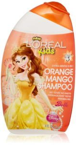 L'Oreal Kids Disney Princess Extra Gentle 2-in-1 Shampoo, Orange Mango, 9 Fluid Ounce